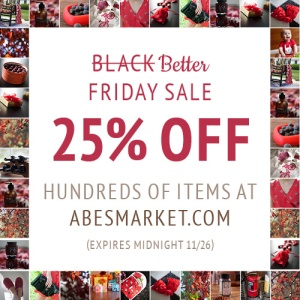 20% off Abes Market Black Friday