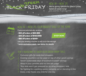 Black Friday at Ecomom.com