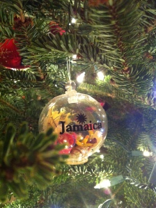 The souvenir pickin's were slim on our honeymoon, but this ornament takes me right back to the sandy beaches.