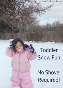 toddler snow activity