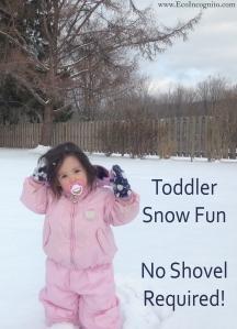 toddler snow activity