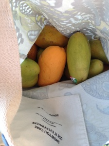 mango madness in a produce bag