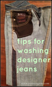 designer jeans washing